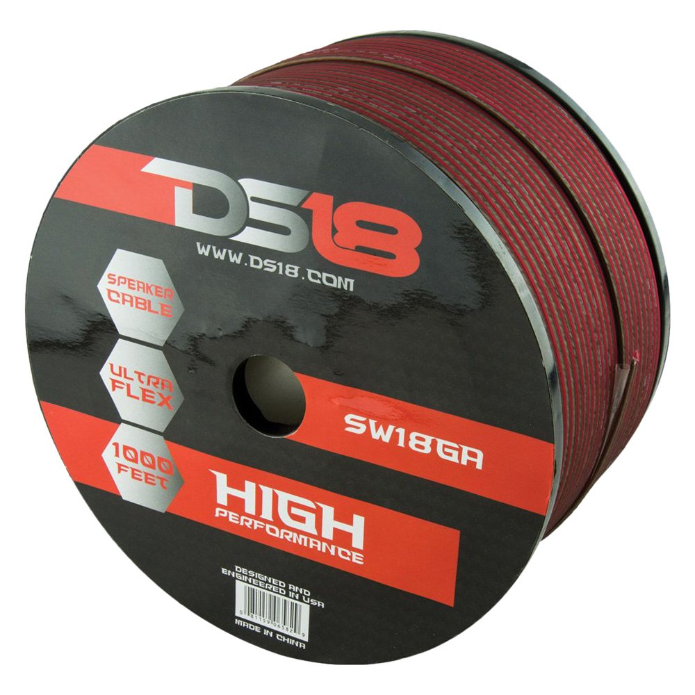DS18® SW-18-GA-1000RB - 18 Gauge 1000\' Red/Black Speaker Wire