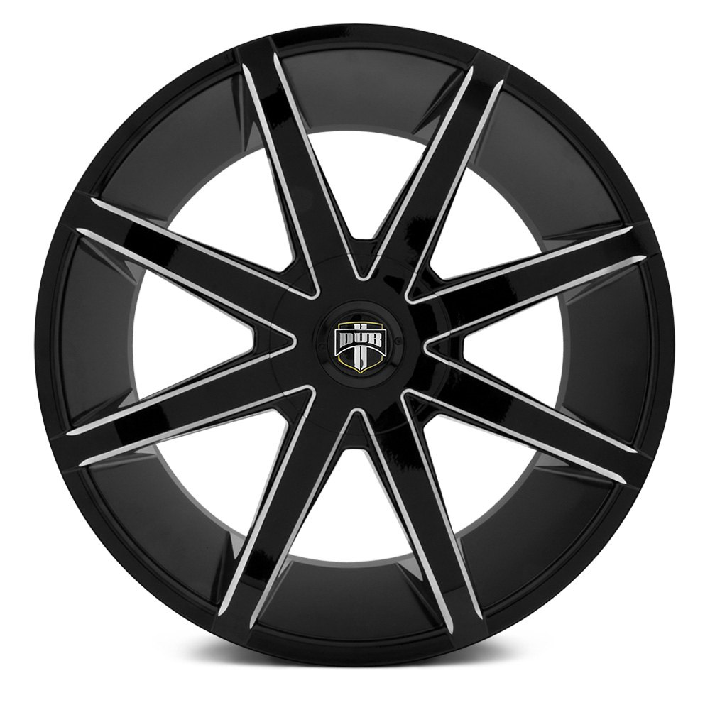 Black Wheels Dub Alloys: Black With Milled Accents Rims