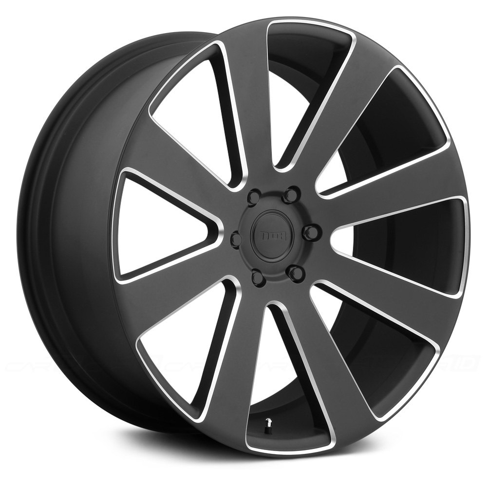 Dub 174 8 Ball Wheels Black With Milled Accents Rims