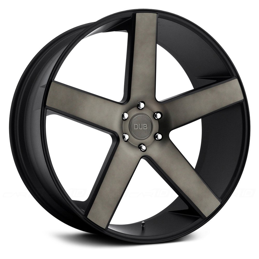 Dub 174 Baller Wheels Black With Machined Face And Dark