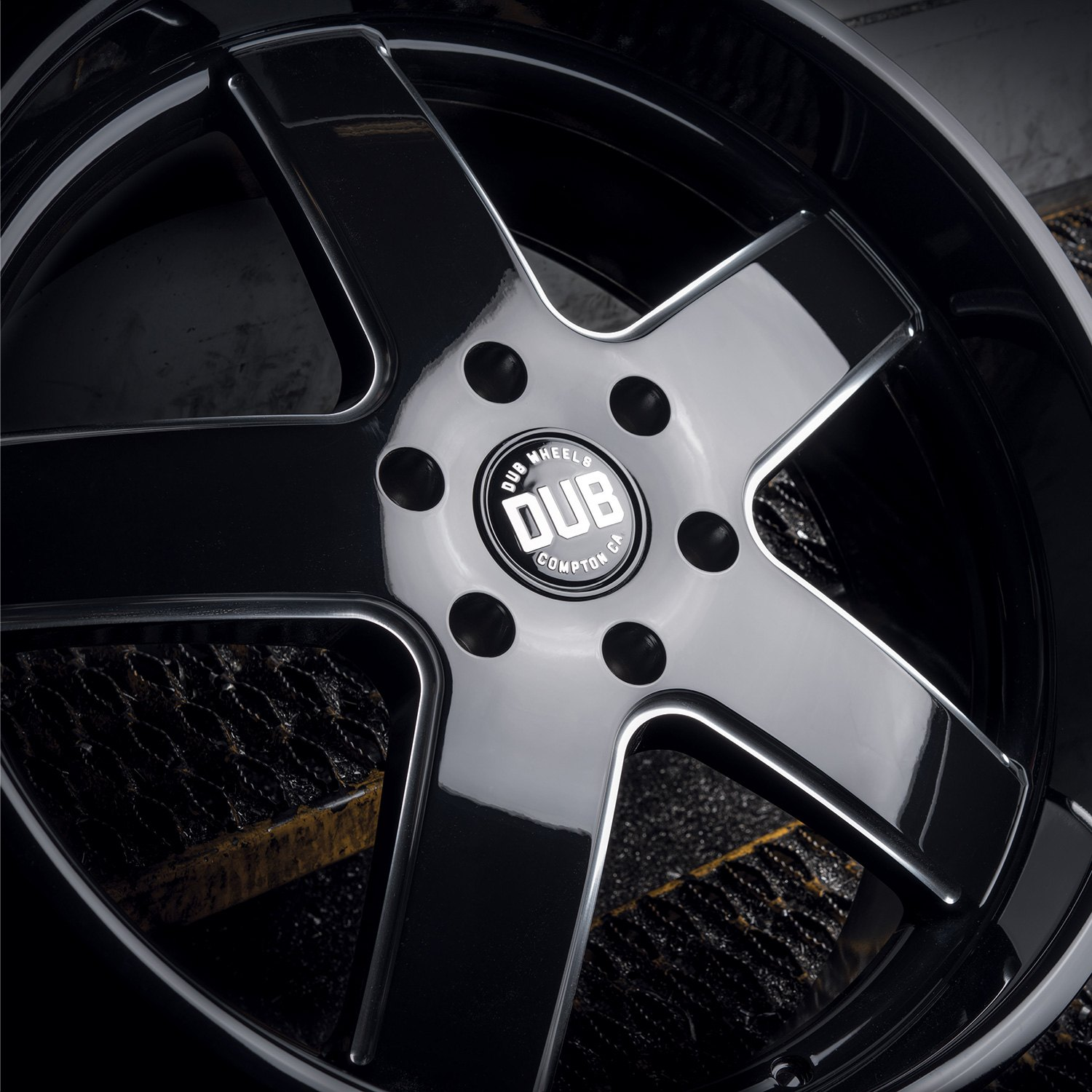 Black Wheels Dub Alloys: Gloss Black With Milled Accents Rims