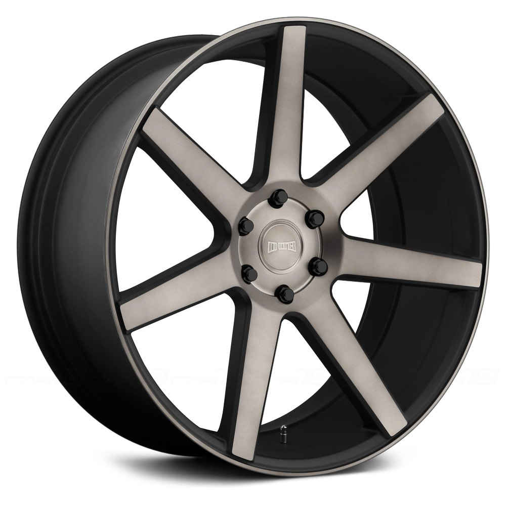 Black Wheels Dub Alloys: Black With Machined Face And
