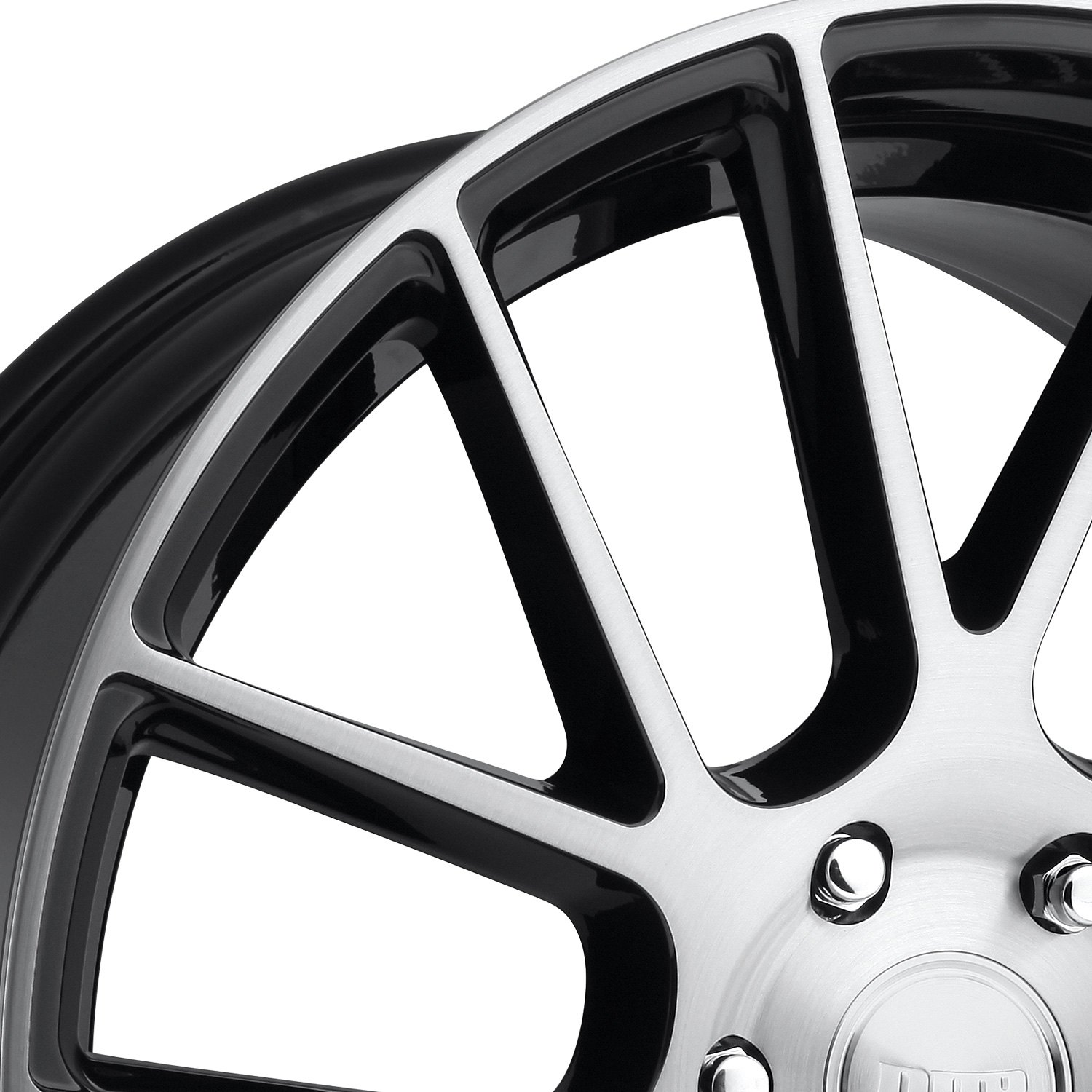 Black Wheels Dub Alloys: Gloss Black With Brushed Face Rims