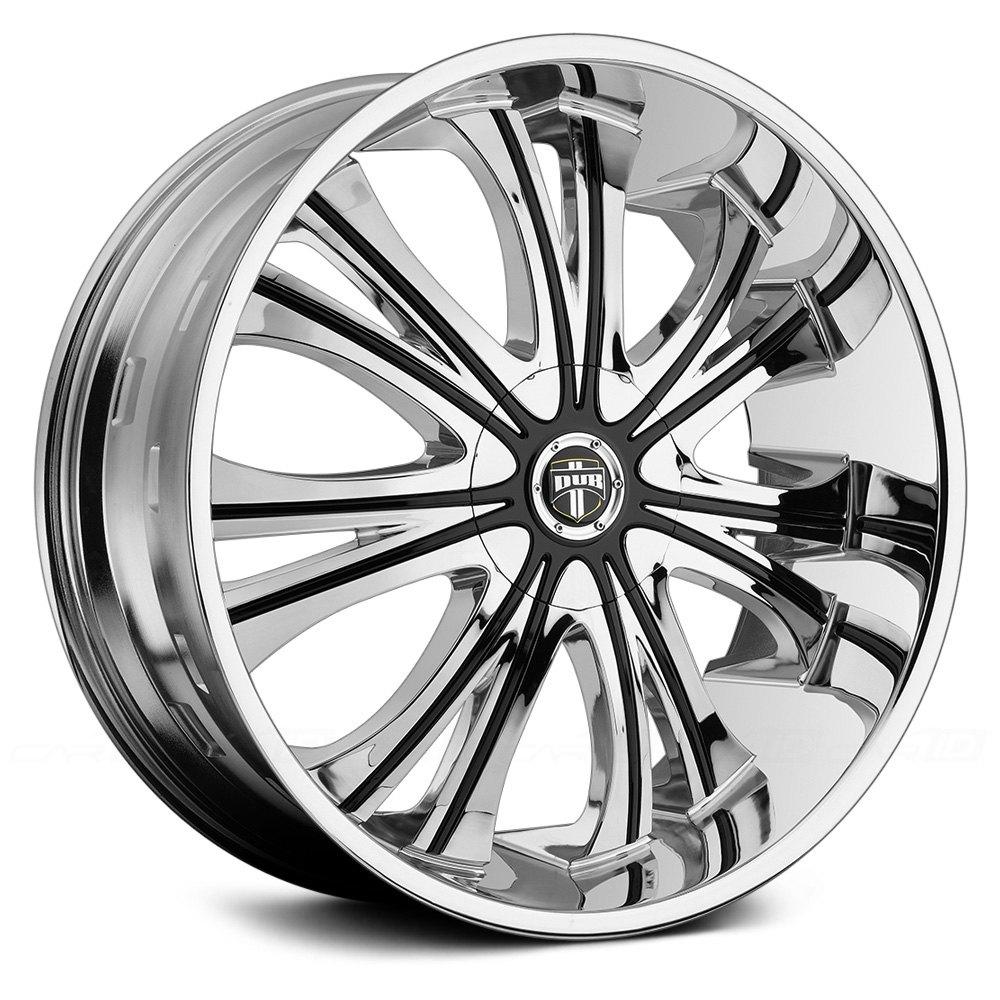 Black Wheels Dub Alloys: Chrome With Black Inserts Rims