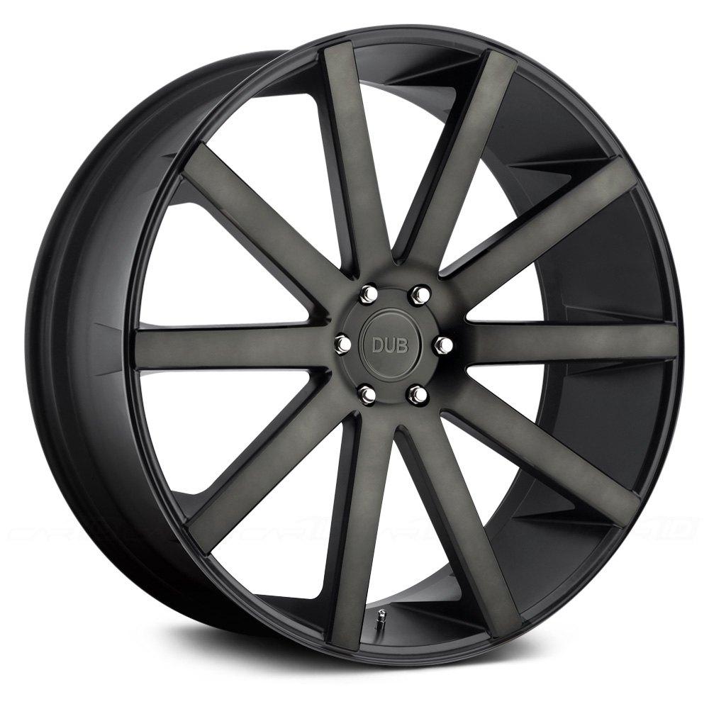 Black Wheels Dub Alloys: DUB® S121 SHOT CALLA Wheels