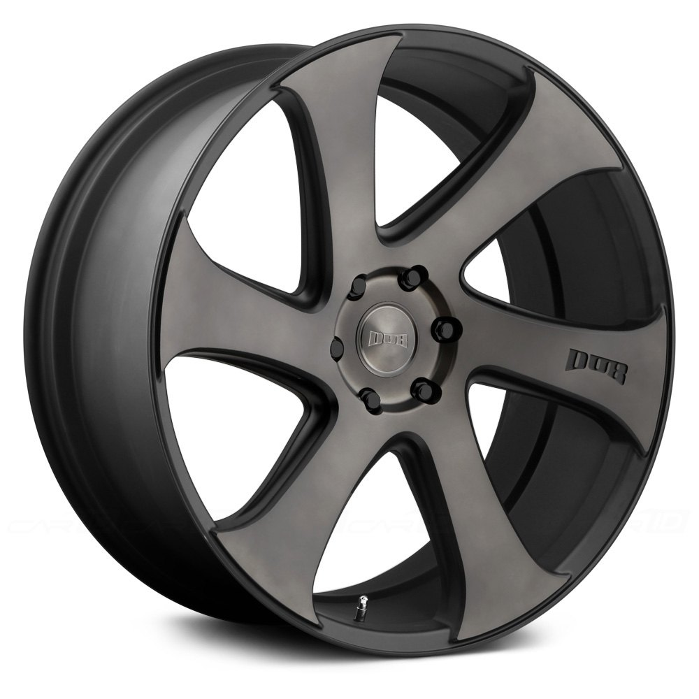 Dub 174 Swerv Wheels Black With Machined Face And Double