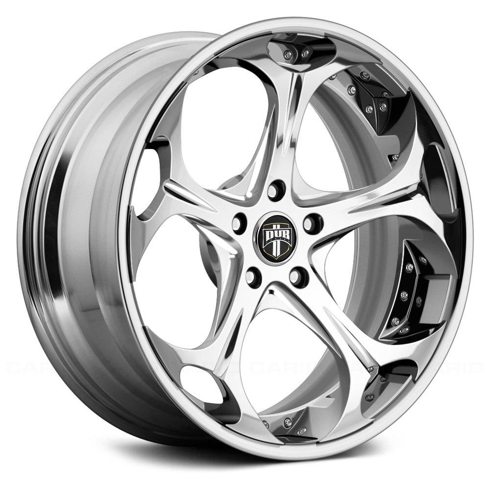 30 Chrome Rims : Dub gnarly pc wheels chrome rims