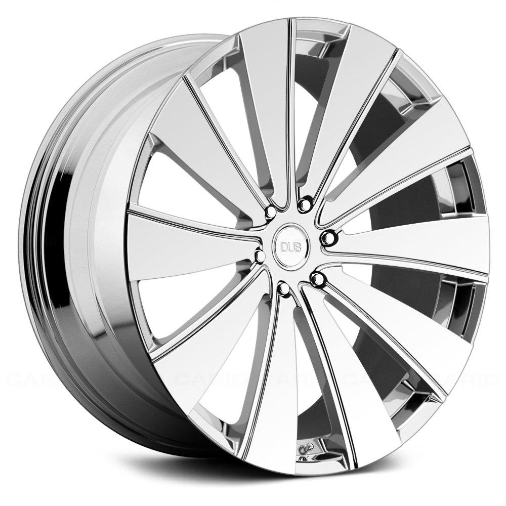 30 Chrome Rims : Dub xb slappr pc wheels chrome rims