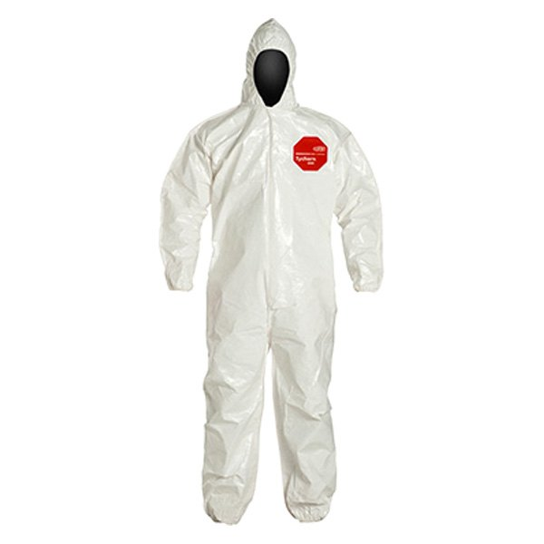 Dupont d13485041 tychem 4000 127 series large white coverall for Dupont exterior protection reviews