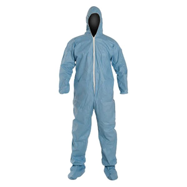 Dupont d13492395 proshield 6 sfr x large blue coverall for Dupont exterior protection reviews