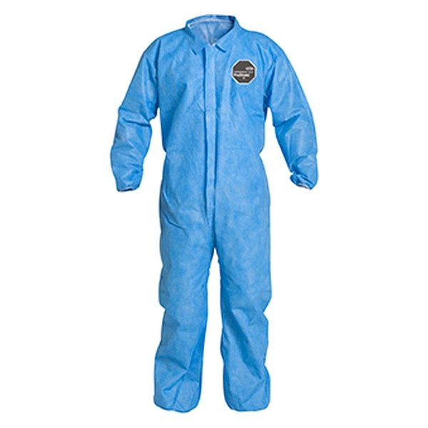 Dupont d14997020 proshield 10 3x large blue coverall with storm flap for Dupont exterior protection reviews