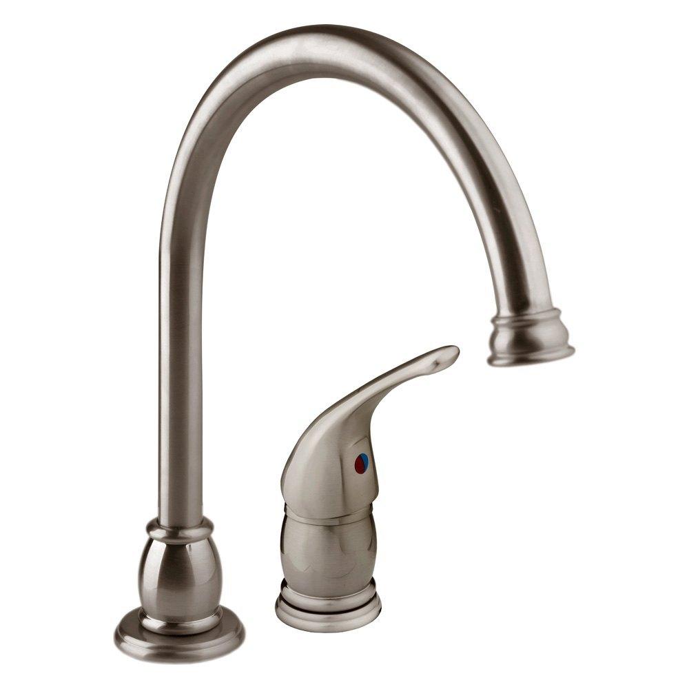 Dura Designer Series Rv Kitchen Pedestal Goose Neck Faucet