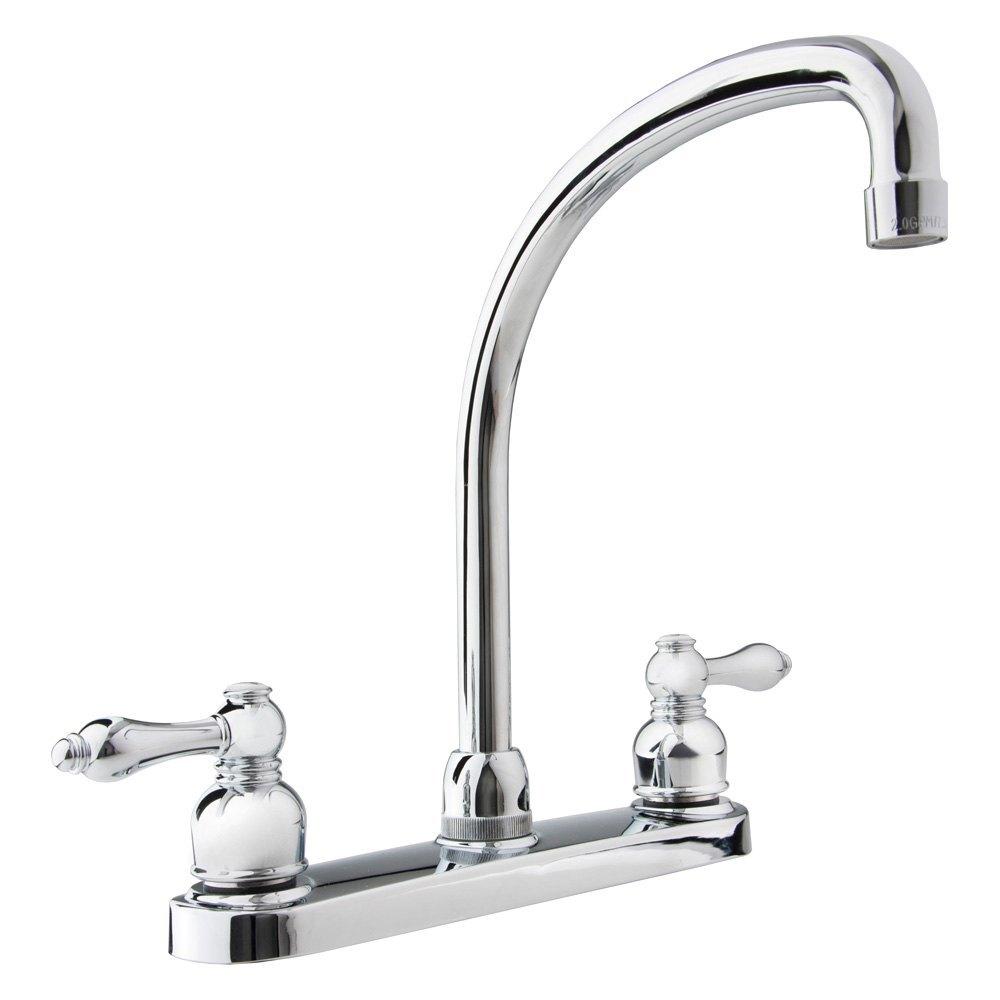 Dura® DF-NMK330-CP - RV Kitchen Two Handle Hi-Arc Faucet