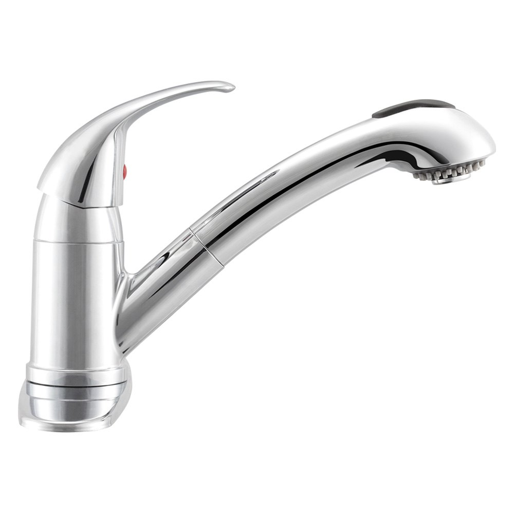 Dura df nmk852 cp rv kitchen pull out faucet with lever - Rv kitchen sink faucet ...