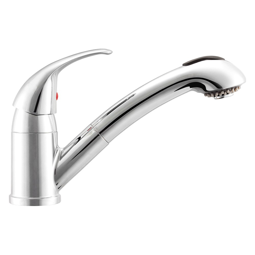 Dura® DF-NMK852-CP - RV Kitchen Pull-Out Faucet with Lever