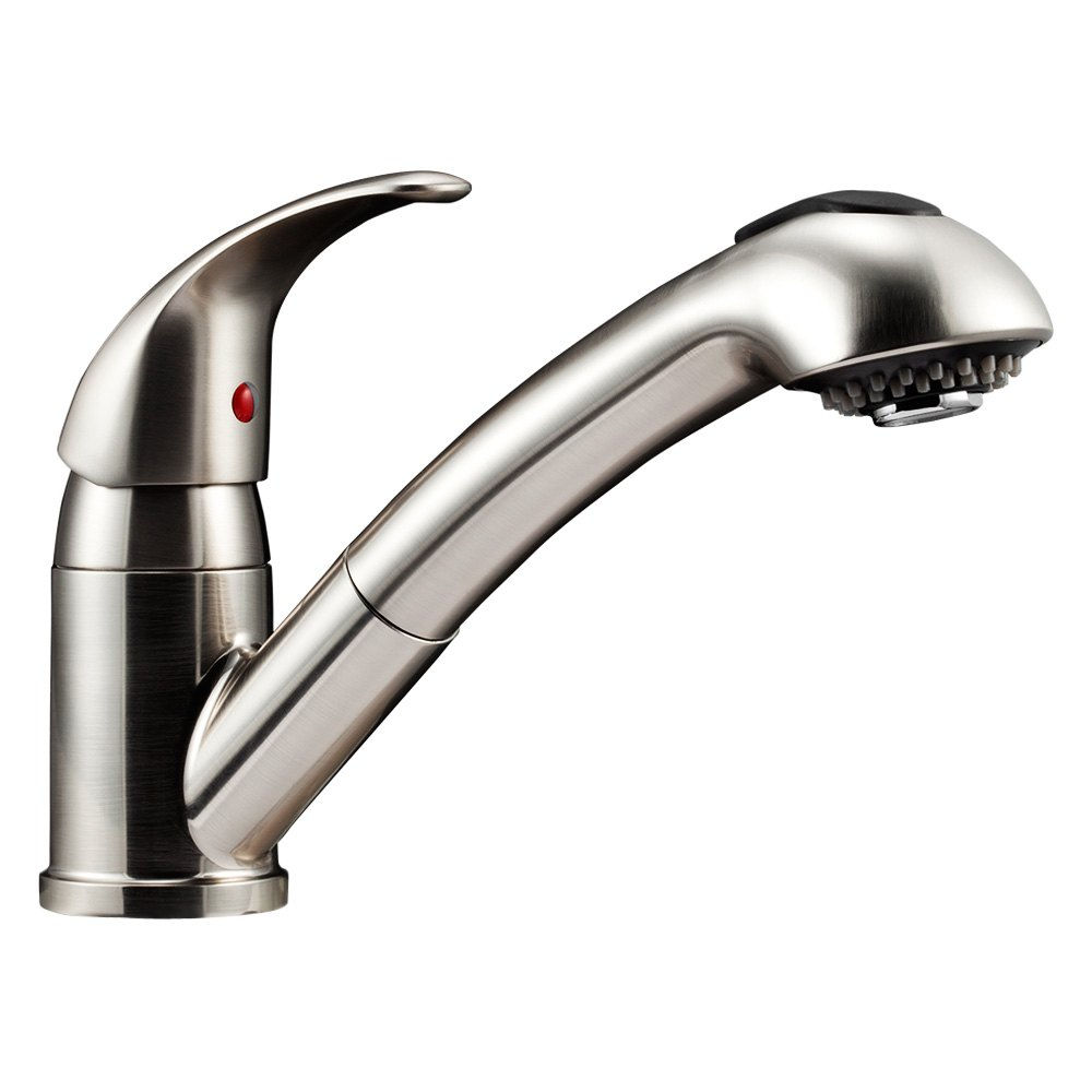 Dura® DF-NMK852-SN - RV Kitchen Pull-Out Faucet with Lever