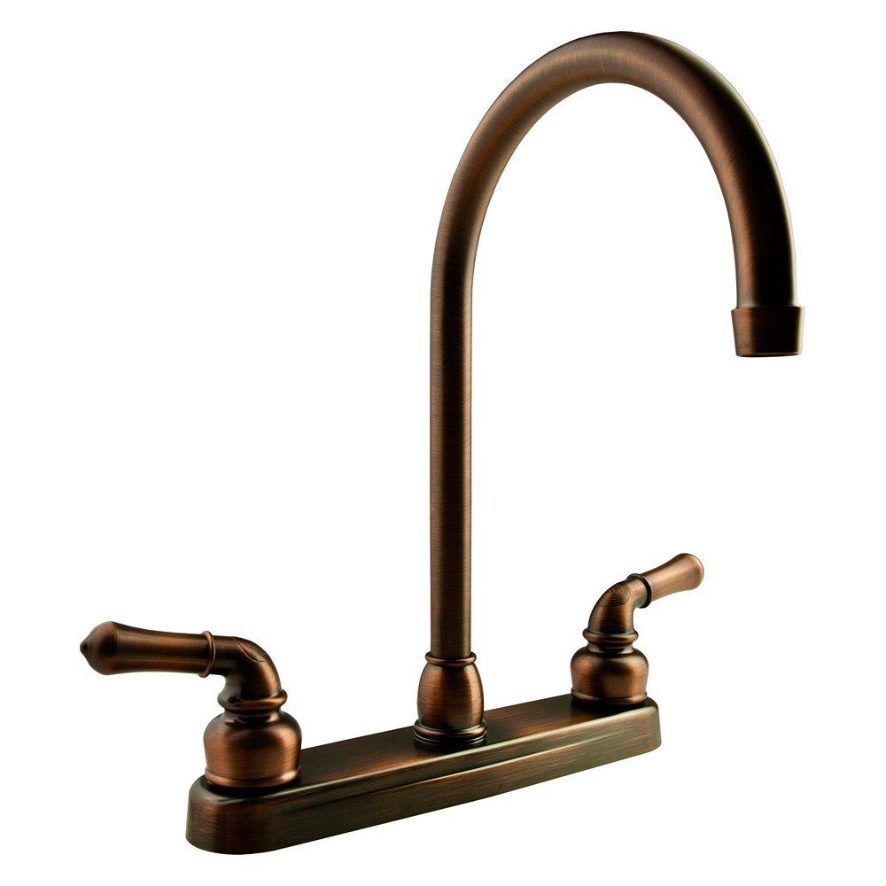 Dura 174 Rv Kitchen Two Handle J Spout Faucet