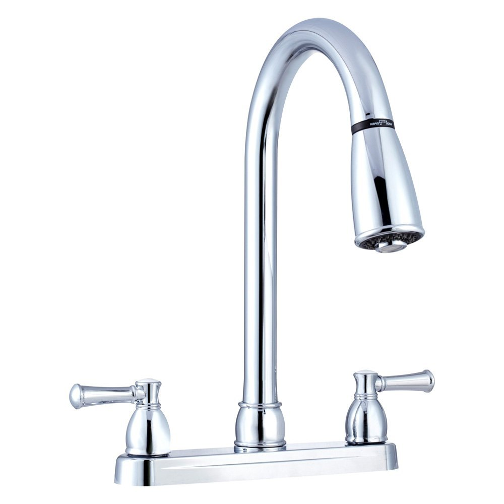 Dura 174 Rv Kitchen Pull Down Two Handle Faucet