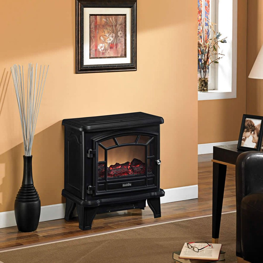 Maxwell Electric Stove with Heater - Part Number DFS-550-21-BLK by Duraflame. Portable unit is easy-to-assemble