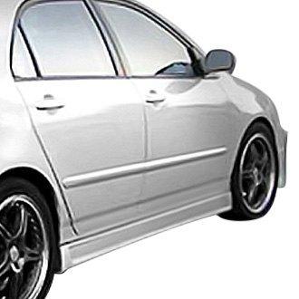 For Toyota Corolla 09-13 W-1 Style Fiberglass Side Skirt Rocker Panels Unpainted