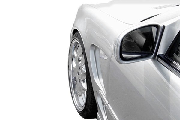 For Mercedes-Benz S430 00-06 LR-S Style Fiberglass Front Fenders Unpainted