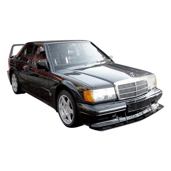 Duraflex 105369 evo 2 style fiberglass wide body front for Mercedes benz 190e front bumper