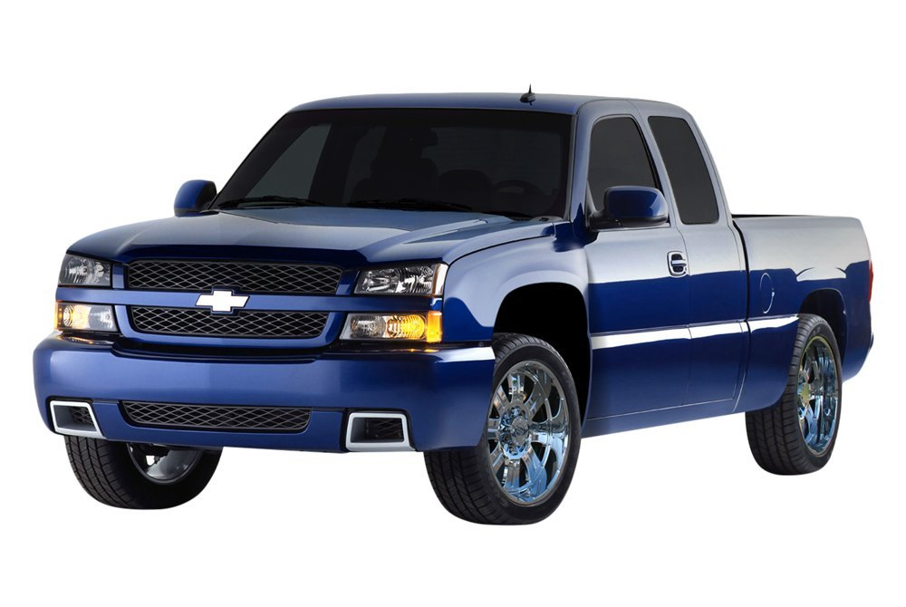 Details about For Chevy Silverado 1500 03-06 Front Fenders Off Road Bulge  Style Fiberglass