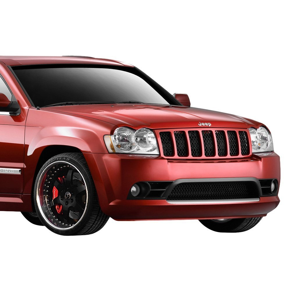 jeep grand cherokee 05 07 srt style fiberglass front bumper cover unpainted 6928366753634 ebay. Black Bedroom Furniture Sets. Home Design Ideas