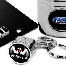 DWD® - Chrome Piston Keychain Western Star Logo