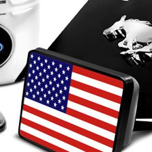 DWD® - USA Flag Hitch Cover