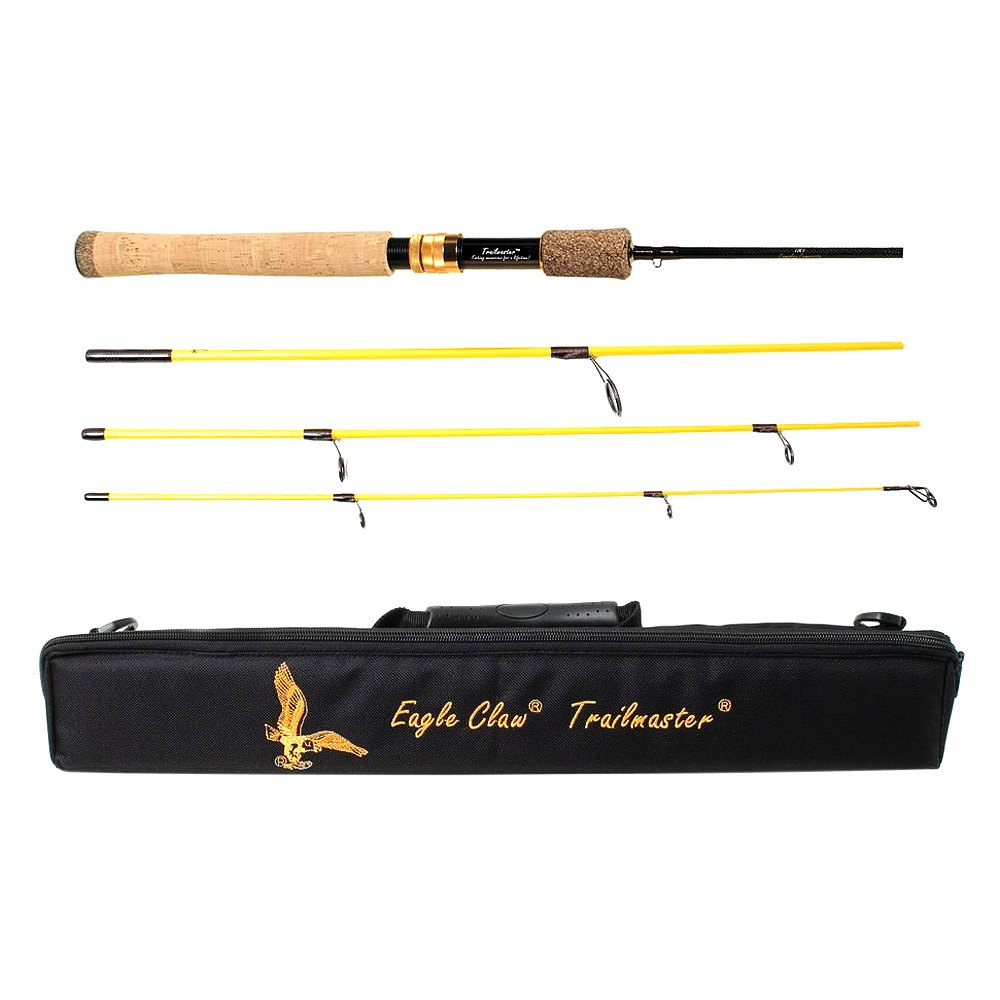 Eagle claw tmm66s4 trailmaster 6 39 6 spinning rod Eagle claw fishing pole