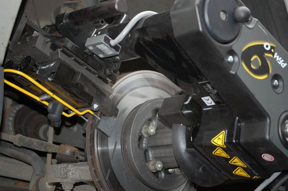 Brake vibration can throw you off track