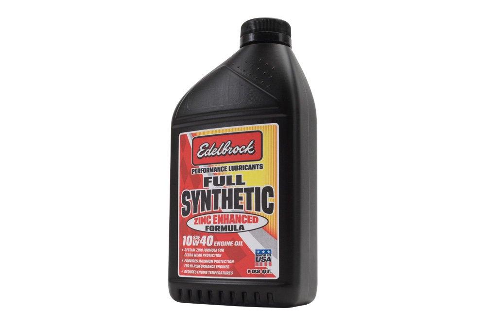 Edelbrock High Performance Synthetic Zinc Enhanced Sae
