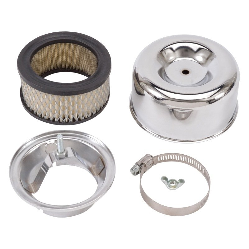 Round Air Cleaners For Tractors : Edelbrock  ™ round chrome air cleaner assembly