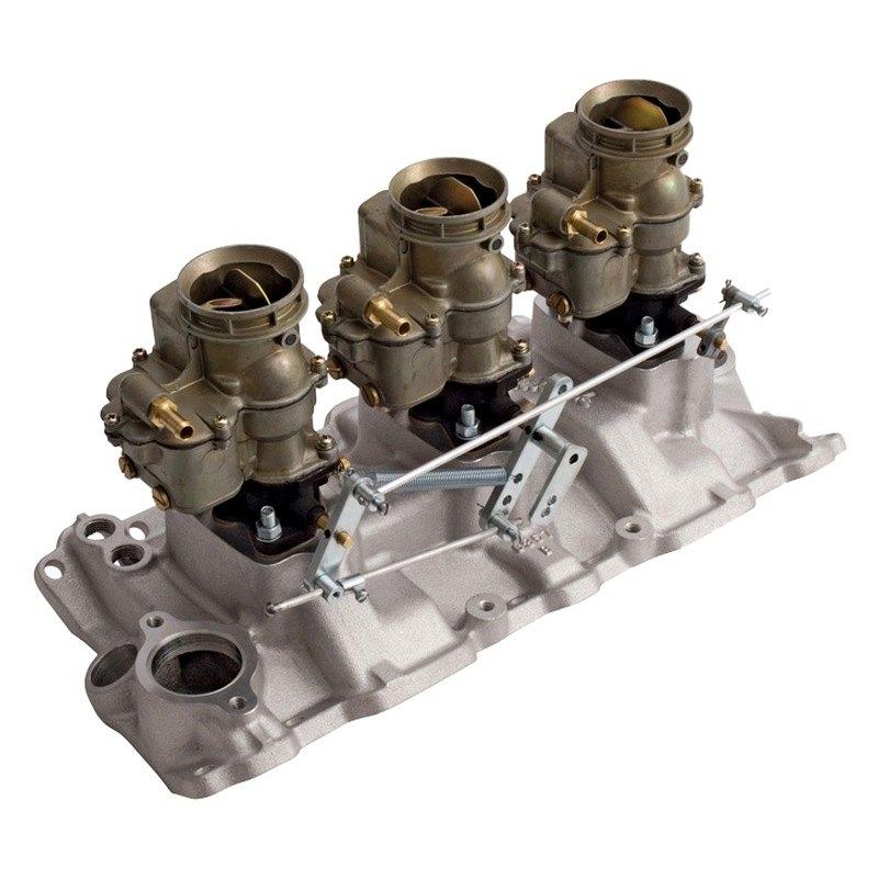 Carburetor Intake Manifold : Edelbrock vintage™ triple deuce intake manifold