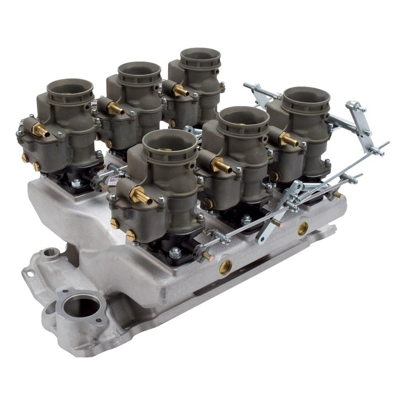 3 deuce intake manifold and carburetors