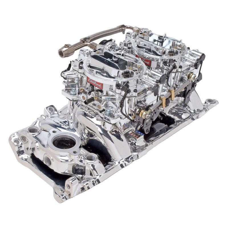 Carburetor Intake Manifold : Edelbrock rpm dual quad endurashine intake