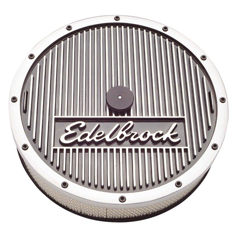 Edelbrock Air Cleaner : Edelbrock elite series polished quot diameter round air