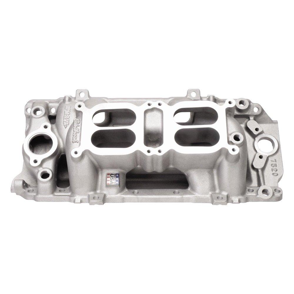 Edelbrock rpm air gap dual quad intake manifold