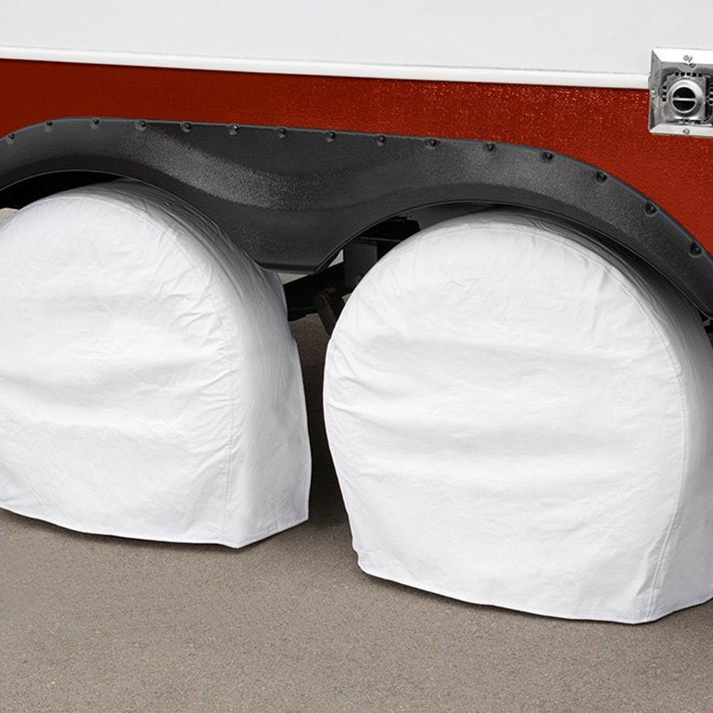 Rv Wheel Covers : Eevelle exwc expedition™ white rv wheel covers