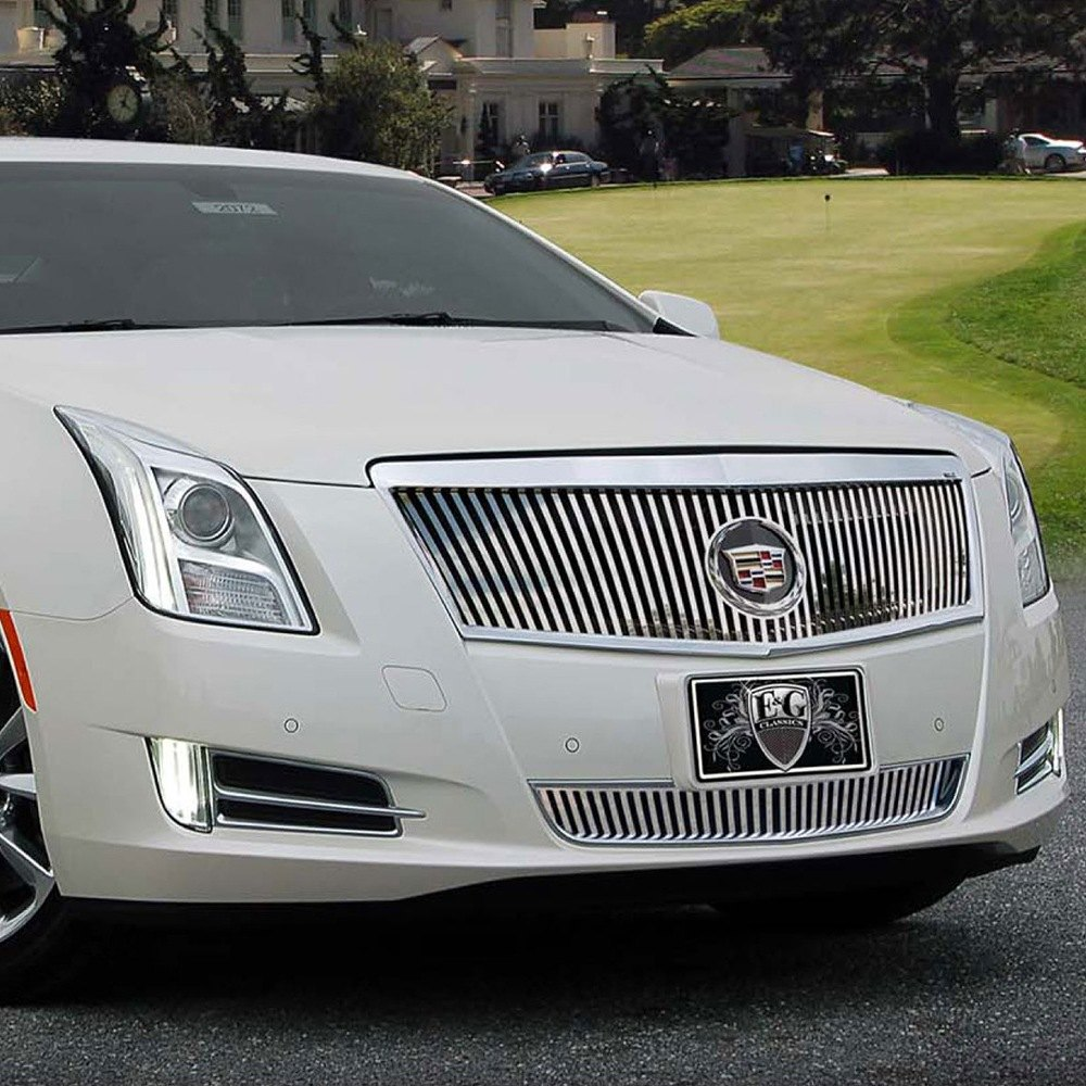 E g classics cadillac xts 2013 classic vertical style chrome grille
