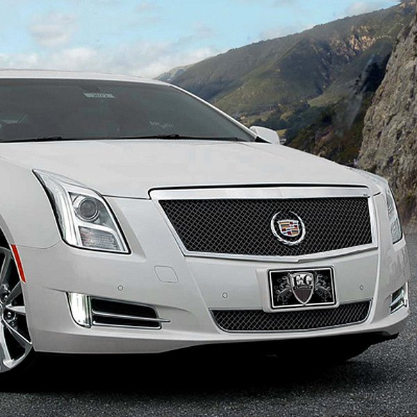 e g classics cadillac xts 2013 black ice heavy mesh grille. Black Bedroom Furniture Sets. Home Design Ideas