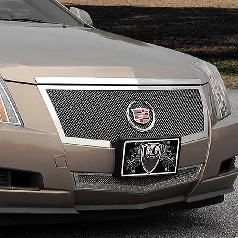 Cadillac CTS 2008-2010 Black Fine Mesh Grille