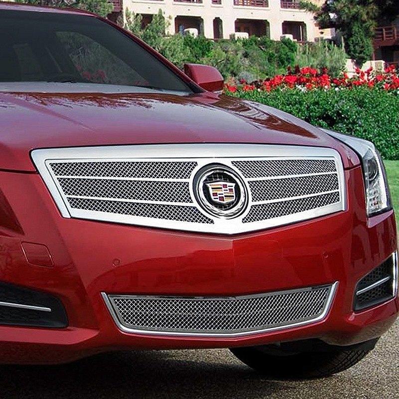 Cadillac Ats 2012: Cadillac ATS 2013 2-Pc Twin Bar Chrome Fine Mesh Grille