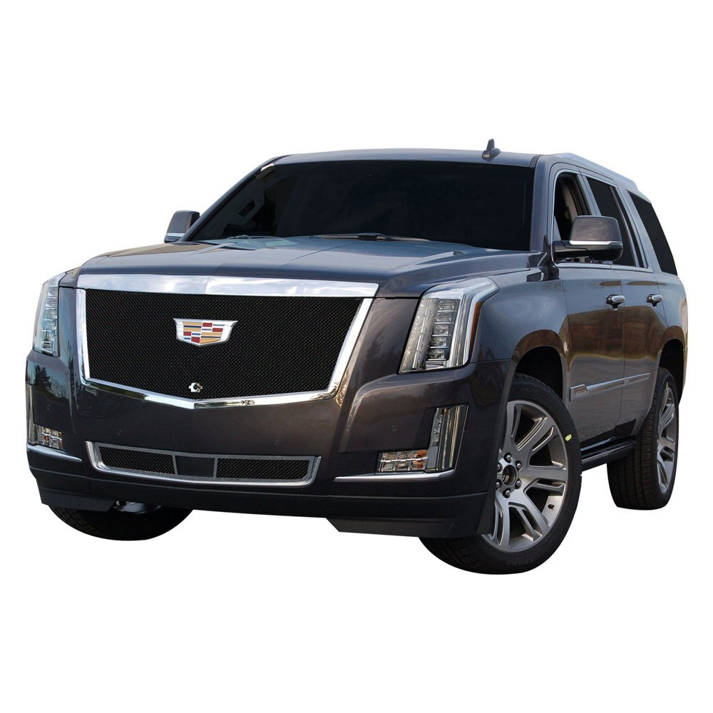 Used Cadillac Escalade Parts For Sale: Cadillac Escalade 2015-2016 Black Fine Mesh Grille
