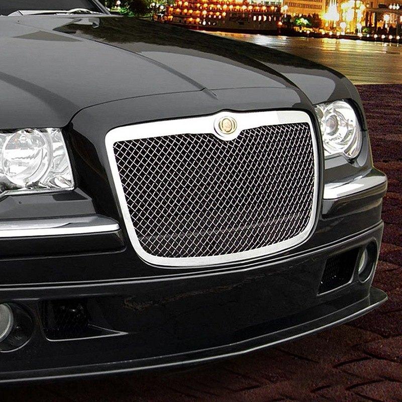 2005 2006 2007 2008 2009 2010 Chrysler 300 300c Black Mesh: Chrysler 300 2005-2007 Black Heavy Mesh Grille