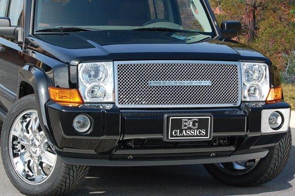 E G Classics 1362 0104 06 Jeep Commander 2006 2010 Chrome Heavy Mesh Grille