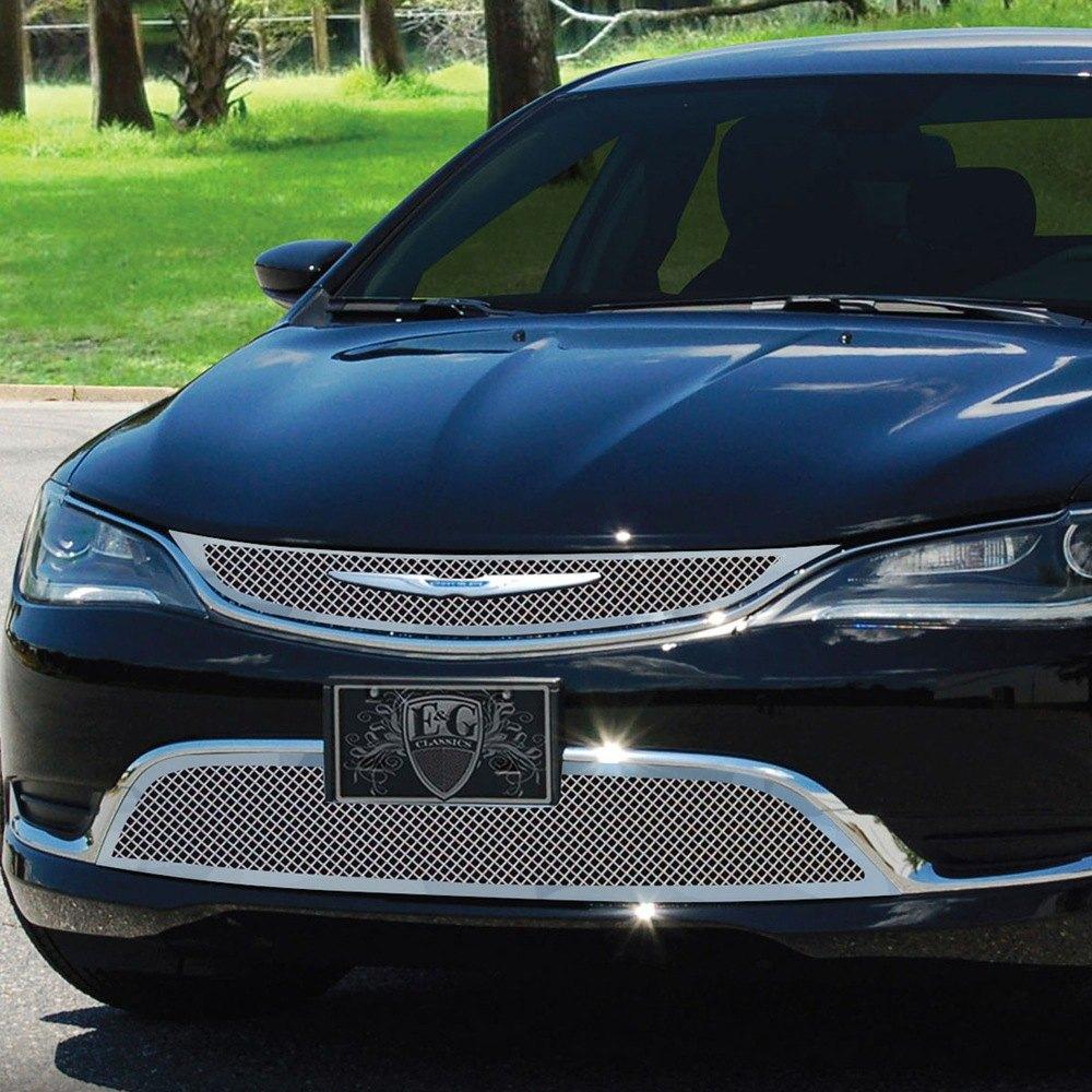 Chrysler 200 2015 2-Pc Chrome Fine Mesh Grille