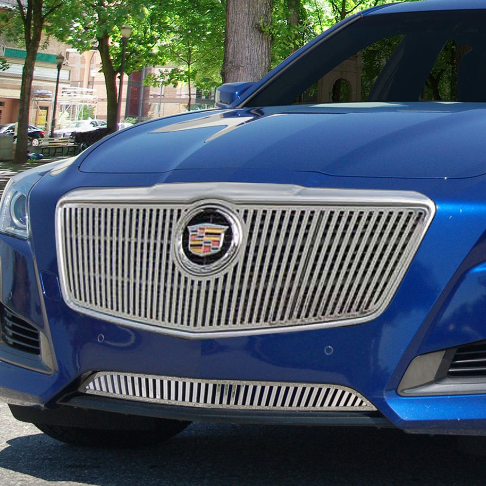 Cadillac Cts 2013 Price: Cadillac CTS Sedan 2015 Chrome Vertical Billet Grille