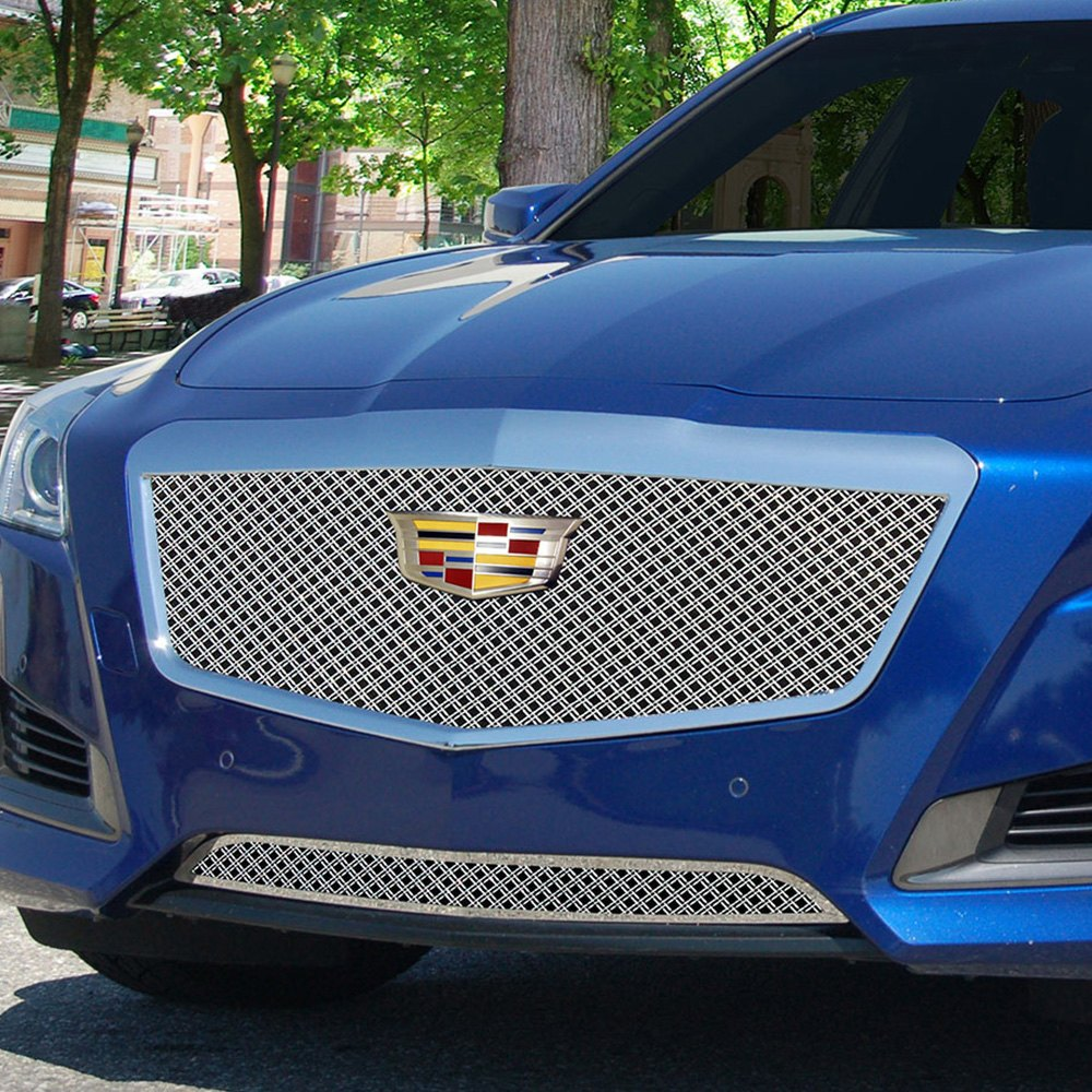 E g classics cadillac cts sedan 2015 1 pc classic series chrome dual weave mesh grille - Grilles indiciaires fpt 2015 ...